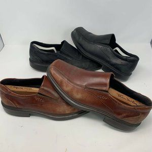ECCO Mens Loafers Shoes Lot Of Two Black Brown